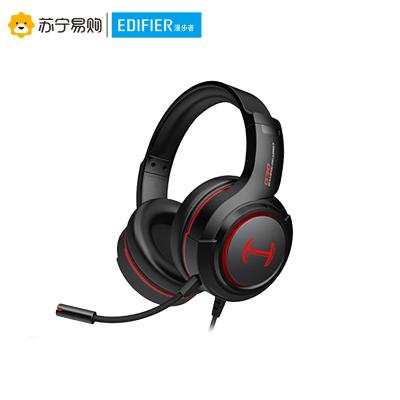Edifier/漫步者 HECATE G30 聲卡版 電腦耳機頭戴式電競游戲降噪有線帶麥 黑紅色