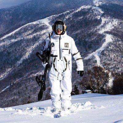 滑雪服套装PINGUP19/20男女单双板连体滑雪服滑雪衣套装透气防水太空nasa