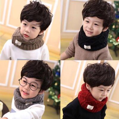 新款兒童圍巾寶寶冬季加厚男童圍巾秋冬女童保暖圍脖小孩毛線圍巾 莎丞