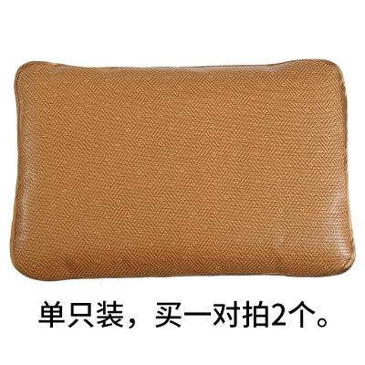 黃古林古藤枕套涼席枕頭套夏季防滑單人學生成人透氣枕芯套子