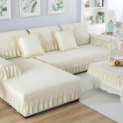 沙發墊四季通用布藝簡約現代沙發套全包定做亞麻沙發巾非萬能套罩花睡神