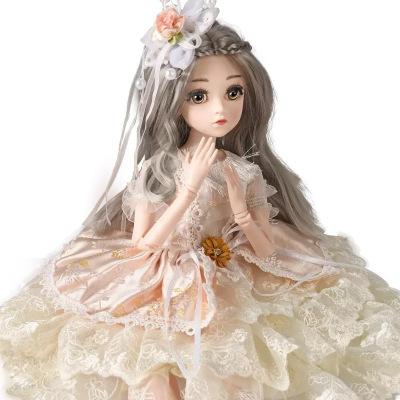 大号45cm厘米芭比套装仿真洋娃娃女孩公主单个玩具超大礼盒布生日礼物