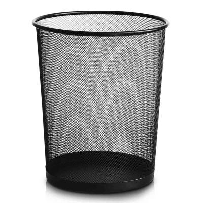 得力(deli)9189 圆形纸篓稳固高品质铁网垃圾桶金属网状