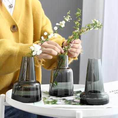 北歐鮮花花瓶ins玻璃花瓶擺件客廳餐桌花瓶插干花家居裝飾品擺設