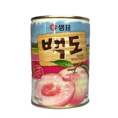 韓國進口膳府白桃罐頭水果罐頭桃子 400g 白桃罐頭