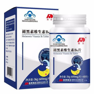 敖东褪黑素安助眠维生素B6片改善睡眠退黑素助眠60片