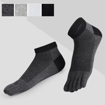 【五雙裝】五指襪男士船襪春夏透氣網眼運動短筒五趾襪