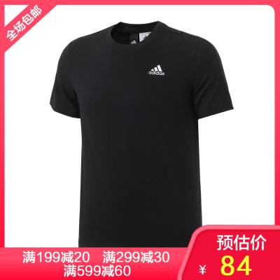adidas阿迪達斯男子短袖T恤2019新款休閑運動服S98742