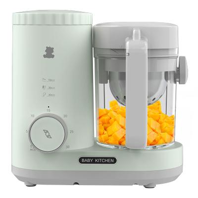 小白熊嬰兒輔食機寶寶輔食料理機多功能蒸煮一體榨汁機全家可用橄欖青HL-6007