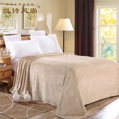 凱詩風尚(CHARSON) 夏毯毯子 毛毯毛巾被床單 空調毯 花色法蘭絨毯格蘭風情150*200cm辦公室午睡毯