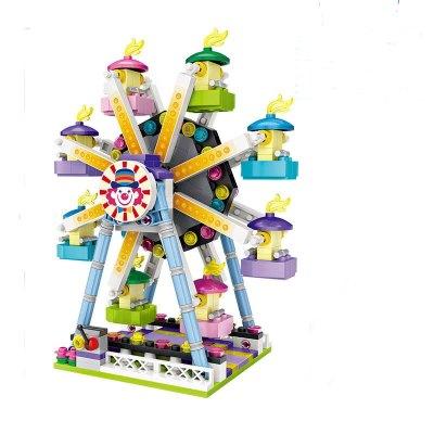 LOZ俐智迷你游乐场小颗粒积木儿童玩具男女孩6岁摩天轮1718