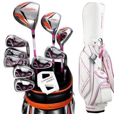 登路普(DUNLOP) 高尔夫球杆 女士全套杆 碳素杆身 标准球具DDH-LADY