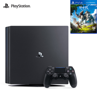 【套餐】索尼(SONY)PS4 Pro 1TB國行家用游戲機 黑+地平線 零之曙光 黎明時分 國行中文游戲光盤