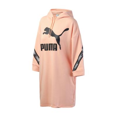 PUMA彪马女装运动服串标七分袖连衣裙卫衣596026