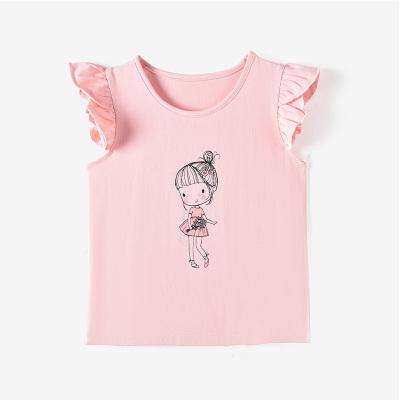 鉛筆俱樂部童裝2020夏裝新款女童薄款T恤兒童背心小童無袖上衣