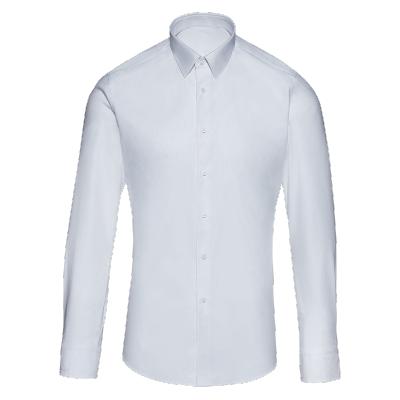 碼尚定制MatchU四季棉彈力免燙襯衫 購買后會發送量體短信鏈接2020春秋新款男士商務長袖襯衫 亮白色