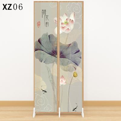 新中式屏風隔斷墻客廳入戶進風水玄關小戶型實木折疊移動折屏邁菲詩