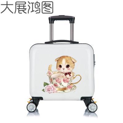 儿童行李箱小型20寸女孩新款时尚拉杆箱万向轮卡通定制男童旅行箱