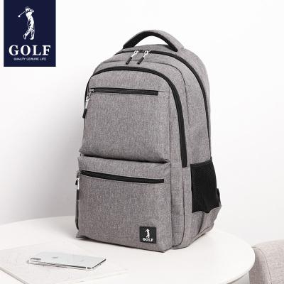 高爾夫(GOLF)雙肩包男旅行多功能背包商務出差大容量輕便簡約行旅包2020新款時尚初高中學生書包14英寸電腦包