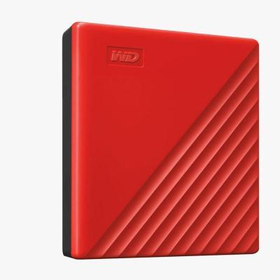 西部數據(WD)2TB USB3.0移動硬盤My Passport隨行版 2.5英寸 紅色WDBYVG0020BRD