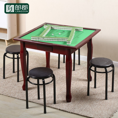 郎郡簡易實木麻將桌子餐桌兩用家用手搓麻將桌面板棋牌方桌象棋面