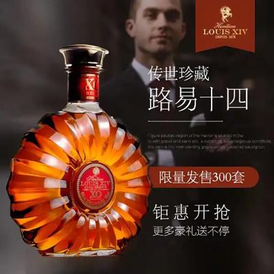 路易十四传世珍藏洋酒XO白兰地 法国原瓶原装进口40度700ml礼盒套装 单瓶装