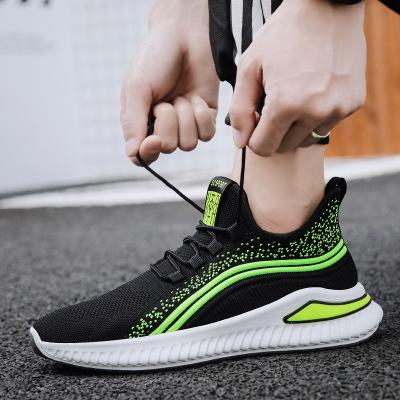 策恩公牛2020夏季新款男鞋夏季透氣運動鞋男士休閑鞋飛織鞋跑步鞋