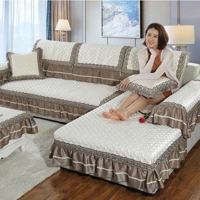 凡軒 皮沙發墊四季歐式通用防滑布藝客廳組合套裝全包萬能沙發套罩全蓋