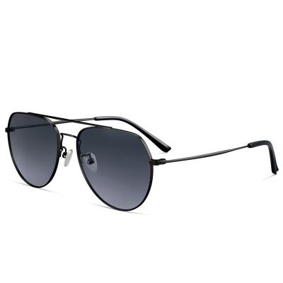 普萊斯(pulais)太陽眼鏡男款偏光蛤蟆墨鏡開車駕駛司機專用7009 黑框漸進灰 配單鏡框(適用無度數)