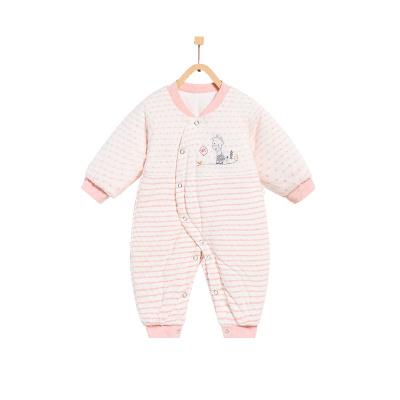童泰TONGTAI秋冬婴儿衣服纯棉偏开哈衣1-18个月宝宝棉衣爬服婴幼儿通用80cm