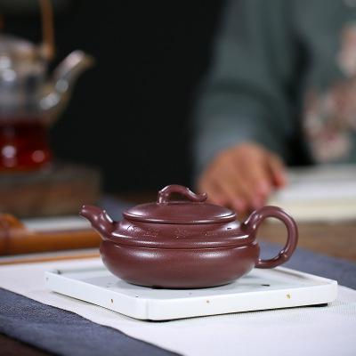 竹段紫砂壺宜興原礦底清工藝師實力派全手工壺禮品手把功夫茶