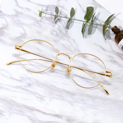 STONE LEOPARD圓框近視眼鏡純鈦全框可配有度數眼鏡男女通用網紅款