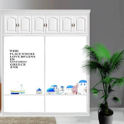 衣柜CIAA定做衣櫥推拉壁柜簡約滑動3定制鋼化玻璃衣柜移 14