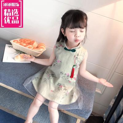 汉服女童夏装宝宝改良旗袍儿童唐装小女孩中国风古装超仙童装儒裙