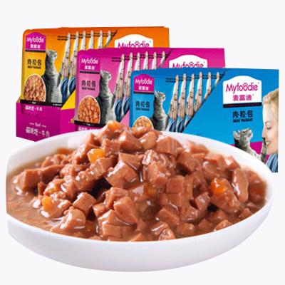 麥富迪貓咪戀海洋魚85g*12包貓咪零食增肥貓咪戀肉粒包小零食貓罐頭貓糧妙鮮貓濕糧12包