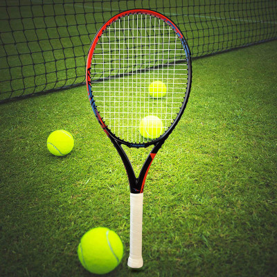 朗宁专业全碳素一体成型网球拍单拍正品碳纤维初学者进阶比赛网拍套装 已穿线