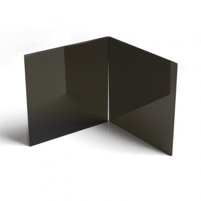 黑色亞克力板鏡面磨砂啞光板閃電客半透明黑茶色有機玻璃板按圖定制切割 黑茶半透明 400*400mm5mm