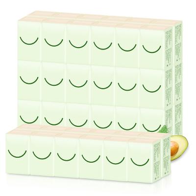 喜朗鱷梨本色手帕紙48包便攜式面巾紙整箱柔韌三層加厚紙手帕