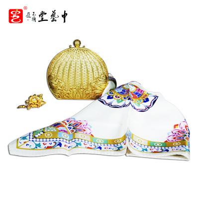中藝盛嘉郭鳴領銜創作APEC國禮繁花手包全套簡約現代飾品中藝堂收藏品送父母送長輩