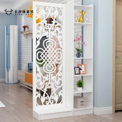 卡汐沐現代中式簡約家具時尚屏風隔斷客廳臥室餐廳鏤空座屏玄關風隔斷柜