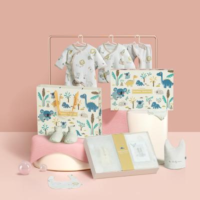 babycare嬰兒內衣禮盒 新生兒衣服六件套純棉用品滿月禮盒八件裝 52cm 洛斯小貍-六件套(四季款)