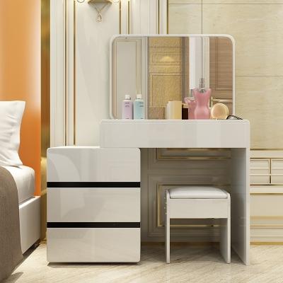 闪电客梳妆台卧室化妆台小户型简约现代化妆桌省空间经济型梳妆台