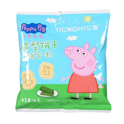小猪佩奇PeppaPig造型饼干海苔味18克 宝宝儿童零食辅食