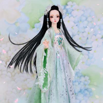 德必勝娃娃DF夢童話芭比娃娃公主套裝大禮盒古裝娃娃改妝換裝仿真洋娃娃兒童男孩女孩玩具生日禮物 子衿DF18404