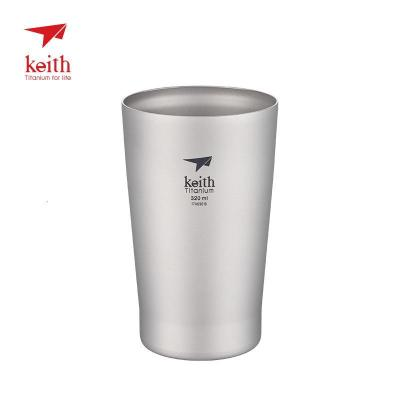 Keith鎧斯鈦酒杯啤酒杯戶外居家水杯野營野餐便攜酒杯純鈦杯 Ti9001