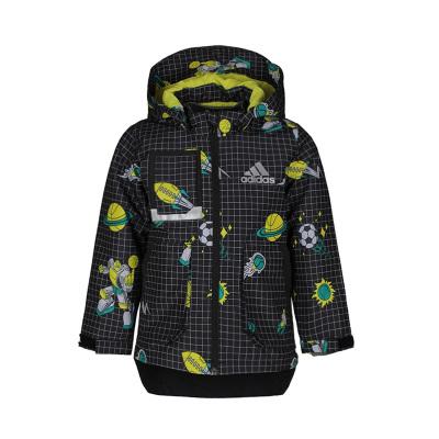 阿迪達斯童裝20年春款男童兒童兩件套梭織夾克 FM9689
