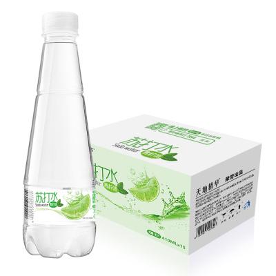 【天地精華】青檸蘇打水堿性 無氣無糖410ml*15瓶裝 蘇打飲料飲用水整箱