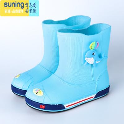 1-10歲兒童雨鞋男女童防滑小孩學生雨靴幼兒水鞋膠鞋保暖四季通用 七斕