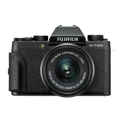 富士(FUJIFILM)XT100(XC15-45MM)黑色 單鏡頭套裝 2420萬像素 富士變焦微單 XT100