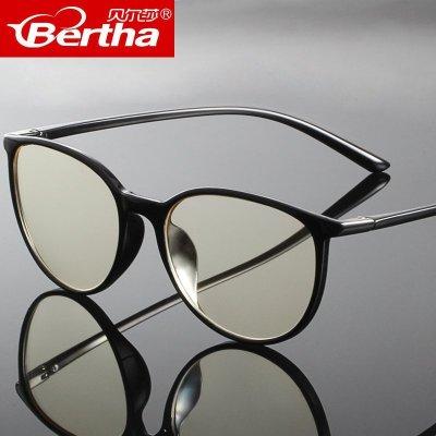 Bertha防輻射防藍光眼鏡男女通用可配近視眼鏡架手機電腦護目鏡全框TR鏡架 樹脂鏡片17